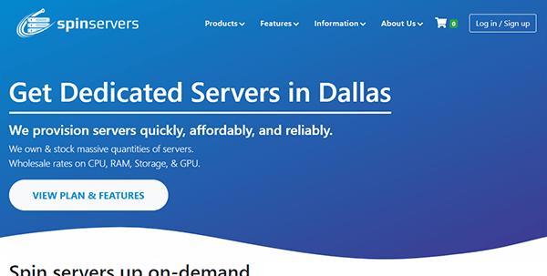 SpinServers:圣何塞服务器75折优惠,亚洲优化线路,10Gbps带宽,月付$126起