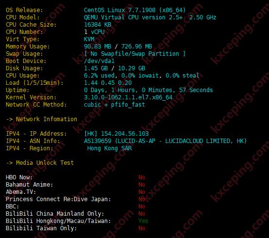 LiCloud:香港精简网络简单测评,电信和移动回程CMI,联通169,100M可跑满