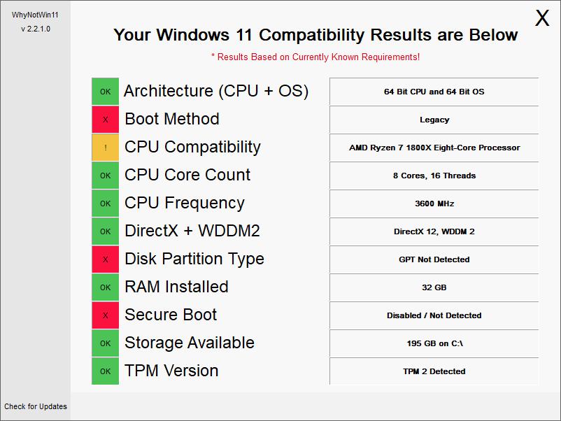 Windows11升级检测工具开源版【可查看不能升级原因】