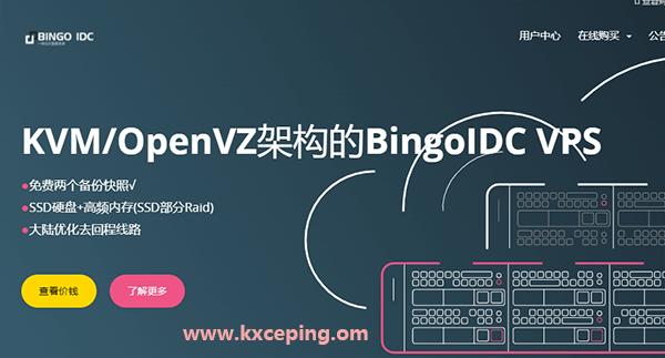 BingoIDC:香港原生IP/CN2线路/月付18元起,美国CUVIP月付24元起,年付8折